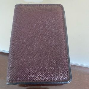 Coach card case wallet burgundy used